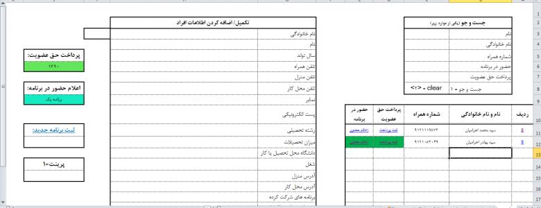 پایگاه داده اعضا